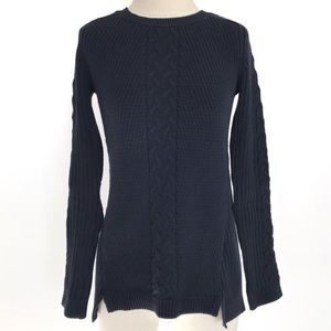 Nautica Navy Cable Knit Sweater
